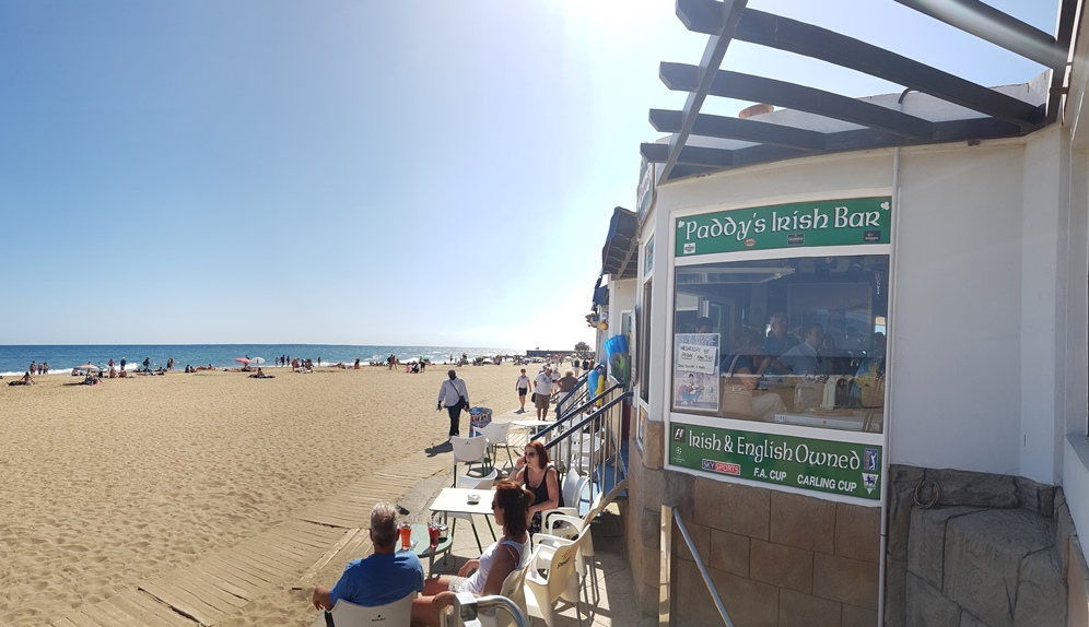 View of Maspalomas Beach from the Bar